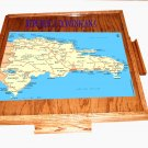 Dominican Republic Domino Table Top with the map