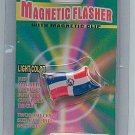 DOMINICAN REPUBLIC FLAG MAGNETIC FLASHER WITH CLIP