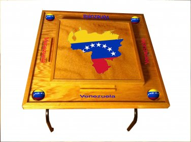 Venezuela Domino Table with the map