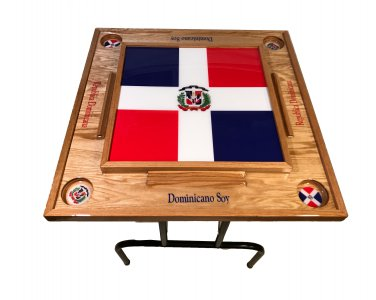 Dominican Republic Domino Table with the Flag