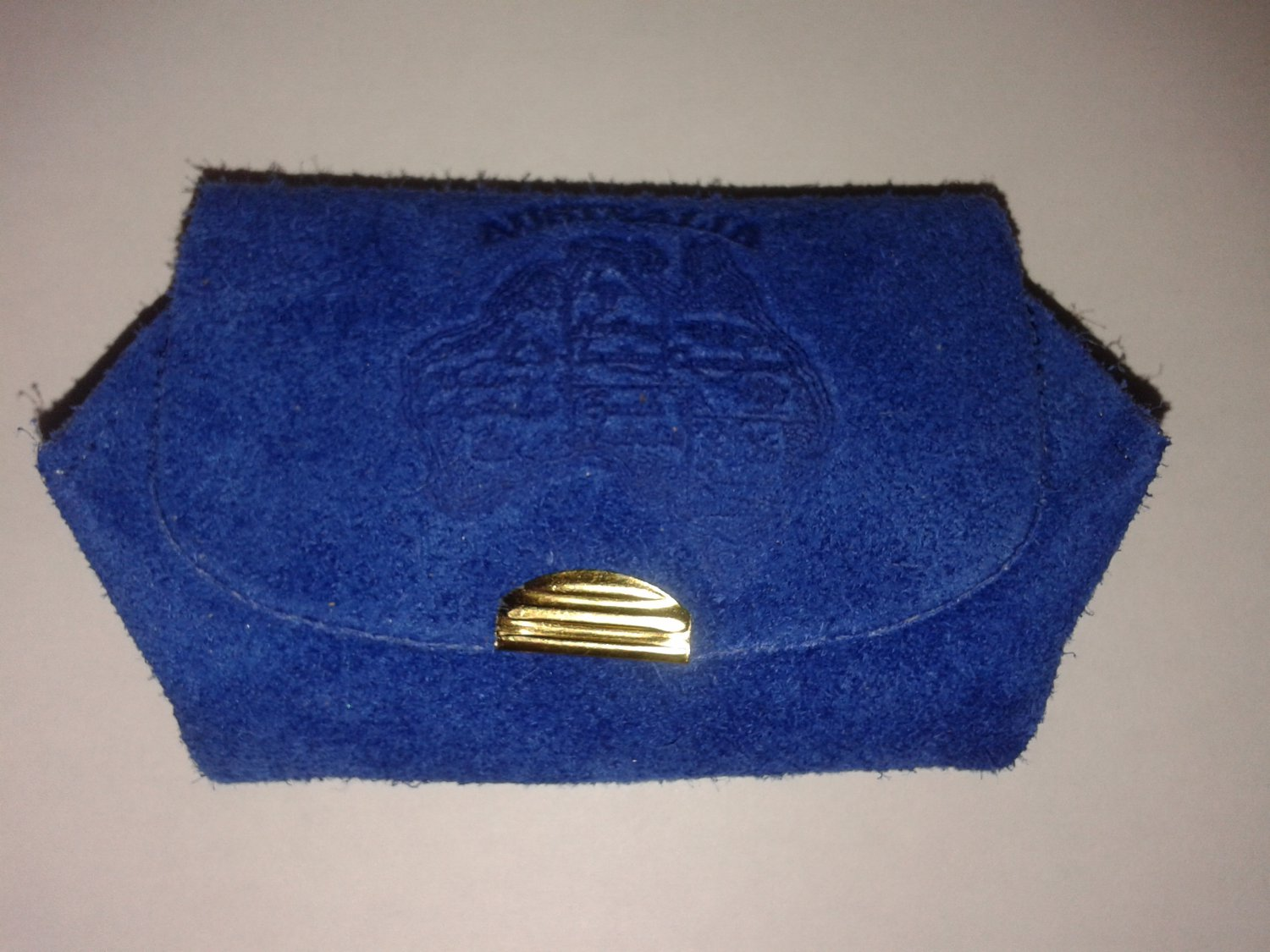 Blue Leather coins wallet