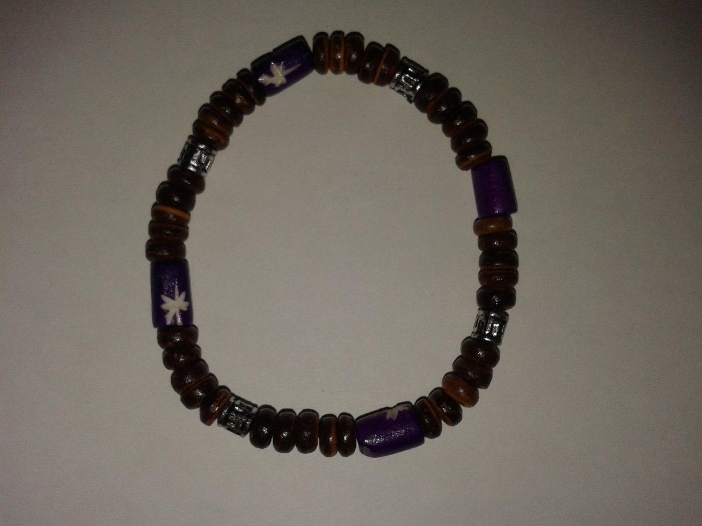 Purple wooden brace