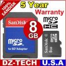 Sandisk 8GB MicroSD Micro SD SDHC MicroSDHC Flash Memory Card 8 GB G 8G \ SDSDQ-8192