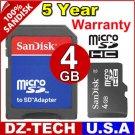 Sandisk 4GB MicroSD Micro SD SDHC MicroSDHC Flash Memory Card 4 GB G 4G \ SDSDQ-4096