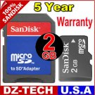 Sandisk 2GB MicroSD Micro SD  Flash Memory Card 2 GB G 2G \ SDSDQ-2048