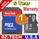 Sandisk 1GB MicroSD Micro SD  Flash Memory Card 1 GB G 1G \ SDSDQ-1024