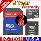 Sandisk 2GB MicroSD Micro SD Mini SD MiniSD  Flash Memory Card 2 GB G 2G \ SDSDQ-2048-3A