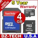 Sandisk 4GB MicroSDHC MicroSD Micro SD SDHC Mini MinSD MiniSDHC Flash Memory Card 4G \ SDSDQ-4096-3A