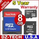 Sandisk 8GB MicroSD Micro SD SDHC MicroSDHC MiniSD Mini MiniSDHC Flash Memory Card 8G\ SDSDQ-8192-3A