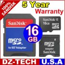 Sandisk 16GB MicroSD Micro SD SDHC MicroSDHC Mini MiniSD MiniSDHC Flash Memory Card\ SDSDQ-016G-3A