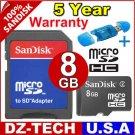 Sandisk 8GB MicroSD Micro SD SDHC MicroSDHC Flash Memory Card 8 GB G 8G \ SDSDQ-8192-PROMOTION