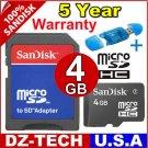 Sandisk 4GB MicroSD Micro SD SDHC MicroSDHC Flash Memory Card 4 GB G 4G \ SDSDQ-4096-PROMOTION