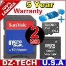 Sandisk 2GB MicroSD Micro SD Mini SD MiniSD  Flash Memory Card 2 GB G 2G \ SDSDQ-2048-3A-PROMOTION