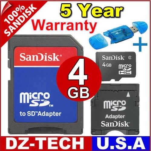 Sandisk 4GB MicroSDHC MicroSD Micro SD SDHC Mini MinSD Flash Memory Card 4G\ SDSDQ-4096-3A-PROMOTION
