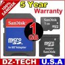 Sandisk 1GB MicroSD Micro SD Mini MiniSD Flash Memory Card 1 GB G 1G \ SDSDQ-1024-3A