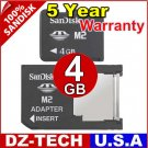 Sandisk 4GB Memory Stick Pro Duo Micro M2 MS 4 G GB 4G\ SDMSM2-4096-DUO