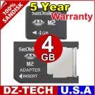 Sandisk 4GB Memory Stick Pro Duo Micro M2 MS 4 G GB 4G\ SDMSM2-4096-DUO