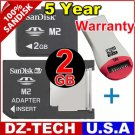Sandisk 2GB Memory Stick Pro Duo Micro M2 MS 2 G GB 2G\ SDMSM2-2048-DUO-PROMOTION-2