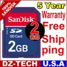New SanDisk Secure Digital 2GB SD Memory Card 2 G GB 2G \ SDSDJ-2048