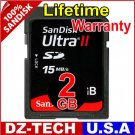 SanDisk 2GB Ultra II Class 4 SDHC SD HC Flash Memory Card 2 GB G 2G \ SDSDHR-002G