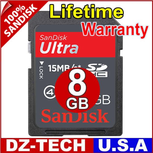SanDisk 8GB Ultra II Class 4 SDHC SD HC Flash Memory Card 8 GB G 8G\ SDSDHR-008G