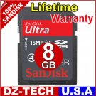 SanDisk 8GB Ultra II Class 4 SDHC SD HC Flash Memory Card 8 GB G 8G\ SDSDHR-008G