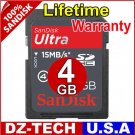SanDisk 4GB Ultra II Class 4 SDHC SD HC Flash Memory Card 4 GB G 4G \ SDSDHR-004G