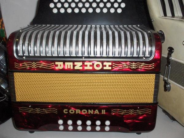 Hohner Corona II 2 Accordion Buttons