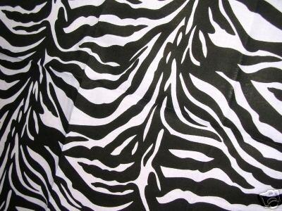 NEW EXOTIC SAFARI ZEBRA PRINT BLACK & WHITE BANDANA HEAD WRAP SCARF