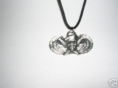 MILITARY SPECIAL FORCES LOGO PEWTER PENDANT NECKLACE