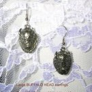 NEW WILD PEWTER TOTEM SPIRIT ANIMAL BISON HEAD METAL EARRINGS TRIBAL JEWELRY