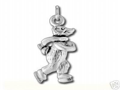 3D CUTE 925 STERLING SILVER BEAR ICE SKATING CHARM JEWELRY