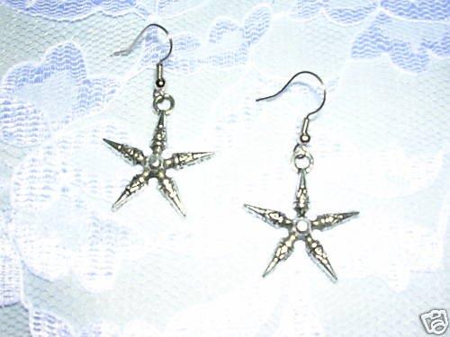 NEW STAR SPURS PIERCED COWGIRL EARRINGS METAL JEWELRY