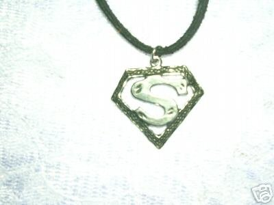 NEW SUPER HERO COMIC BOOK SUPERMAN S PEWTER PENDANT ADJ NECKLACE