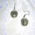COWBOY OR COWGIRL HAT SILVER PEWTER CHARM DANGLING EARRINGS JEWELRY