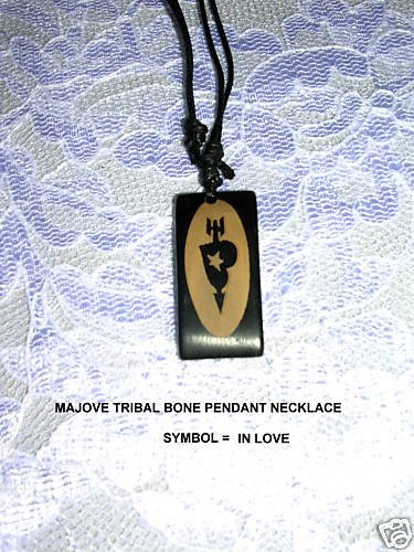 "MOJAVE LASER ENGRAVED HEART TRIBAL IN LOVE PENDANT 28"" NECKLACE"