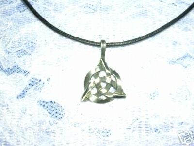 "CELTIC TRI KNOT INFINITY PEWTER PENDANT 28"" NECKLACE"