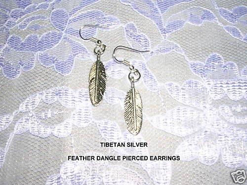 NEW SIMPLE BIRD EAGLE FEATHER ALLOY SILVER CHARM EARRINGS JEWELRY