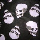 EVIL SKULLS BLACK GRAY WHITE BANDANA HEAD WRAP SCARF