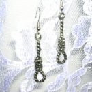 REALISTIC HANG EM HIGH PEWTER ROPE NOOSE DANGLING EARRINGS