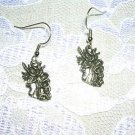 FANTASY BEARDED UNICORN FLOWING MANE MYSTICAL FASHION DANGLING EARRINGS JEWELRY