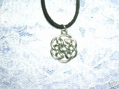 ROUND CELTIC INFINITY KNOT SCROLLING FOREVER KNOT PENDANT ADJ NECKLACE