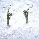 3D TROPICAL JUNGLE PARROTS BIRDS DANGLING PEWTER EARRINGS PARROT JEWELRY