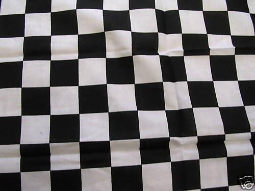 WILD AUTO RACER CHECKERED FLAG FINISH LINE RACING PRINT BANDANA