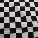WILD AUTO RACER CHECKERED FLAG FINISH LINE RACING PRINT BANDANA