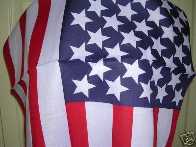 CLASSIC USA AMERICAN FLAG PATRIOTIC BANDANA HEAD WRAP SCARF HANKERCHIEF