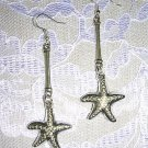 NEW LONG BAR DROP w PUFFY STARFISH BY THE SEA BEACH FUN FASHION DANGLING EARRINGS