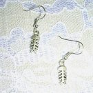 FUN SURFER GIRL FISH BONE DANGLING CHARMS SILVER ALLOY EARRINGS