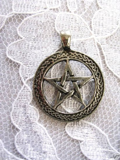 NEW CELTIC DESIGN PENTACLE STAR PEWTER PENDANT NECKLACE