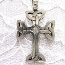 NEW SOLID PEWTER CELTIC KNOT INFINITY CROSS PEWTER PENDANT NECKLACE